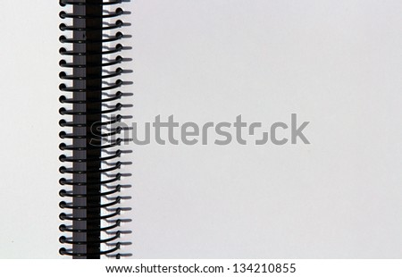 Ring notebook with black and white sheets