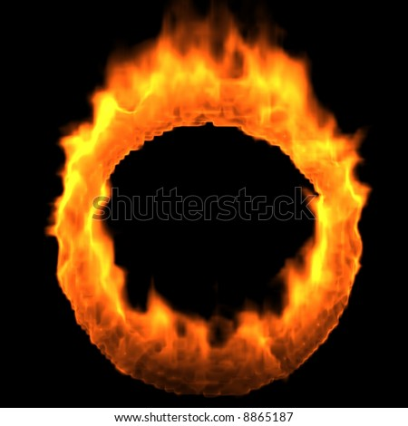 Ring of Fire. Render - stock photo