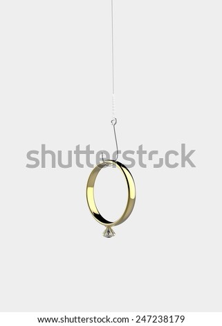 Ring on the hook  - stock photo
