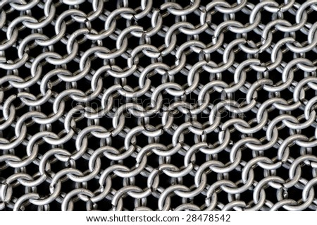 Ring or chain steel mail armour background