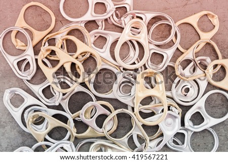 Ring pull cans opener background, stock photo