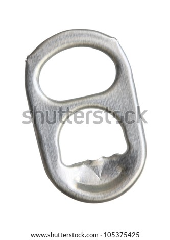 Ring-pull isolated on a white background. - stock photo