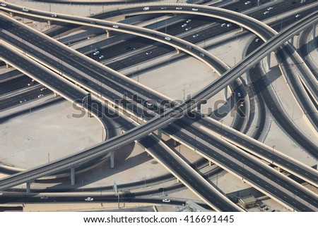 Ring Road in Dubai with several cars