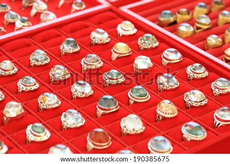 Ring store - stock photo