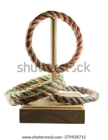 Ring Toss Game on White Background - stock photo