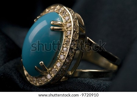 Ring with a stone - stock photo