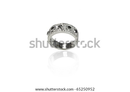 Ring with agate - stock photo