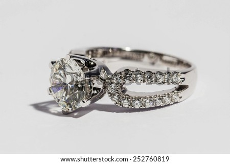 Ring with Diamond. Jewelry - stock photo