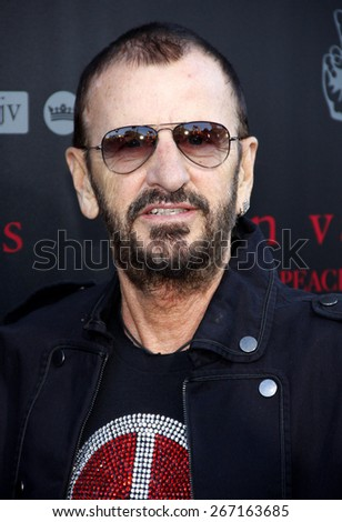 Ringo Starr at the John Varvatos #PeaceRocks Ringo Starr Private Concert  held at the John Varvatos in Los Angeles on September 21, 2014 in Los Angeles, California.  - stock photo