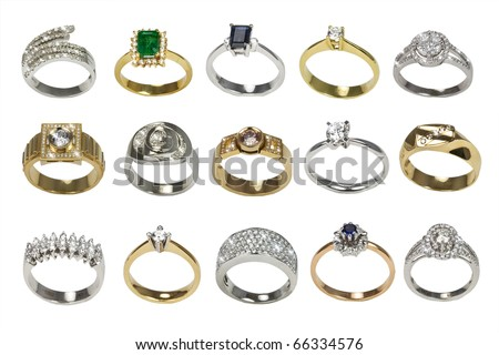 Rings and jewelry - stock photo