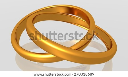 rings golden marriage two - wedding  - stock photo