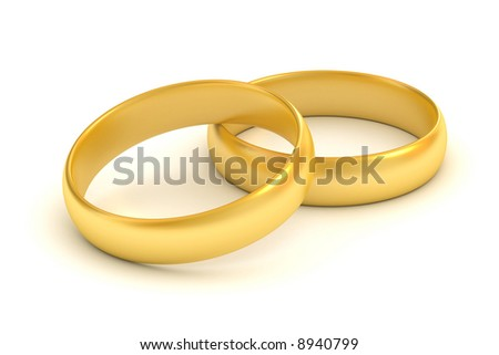 Rings in white background - stock photo