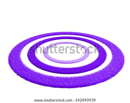 rings of mauve grass - stock photo