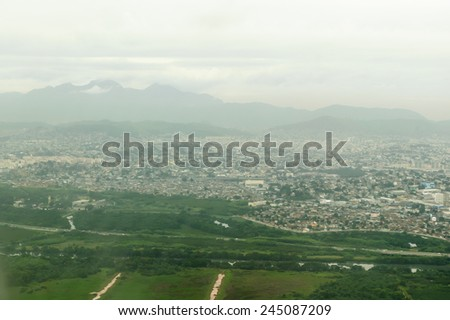 Rio. A view from plane - stock photo