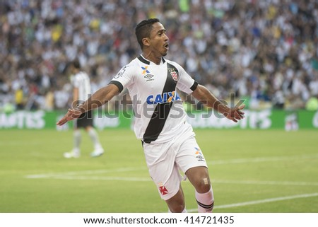 Rio de Janeiro, Brasil - may 01, 2016: Jorge Henrique player in match between Botafogo and Vasco by the first match final of Carioca championship in Maracana Stadium - stock photo