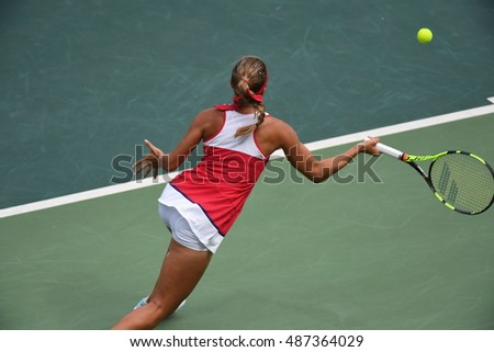 Rio de Janeiro-Brazil, August 11, 2016, Tennis game during Olimicos games 2016, Puig athlete Costa Rica