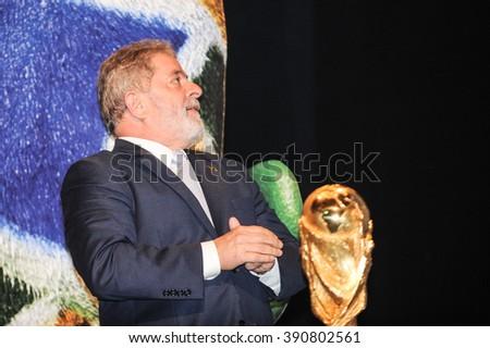 Rio de Janeiro, Brazil - December 06, 2010:  Former President Luiz Inacio da Silva (Lula) during delivery of Craques Award Brasileiro 2010. - stock photo