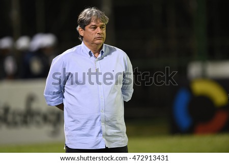 Rio de Janeiro, Brazil - july 27, Coach Marcelo Veiga during Botafogo x Bragantino, valid for the return leg of the 3rd phase of the Brazil Cup, held at the Arena Botafogo.