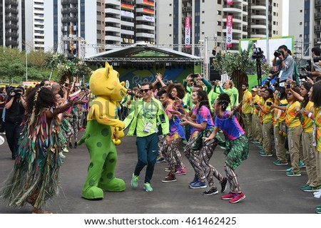 Rio de Janeiro-Brazil 31 July 2016- Feast of the Brazil team in olympic village