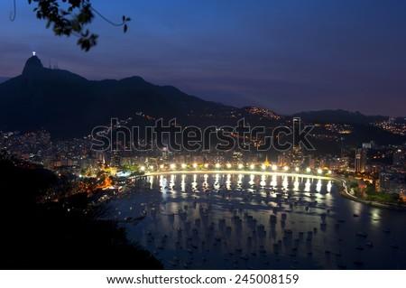 Rio de Janeiro, Brazil - View from Sugar Loaf - stock photo