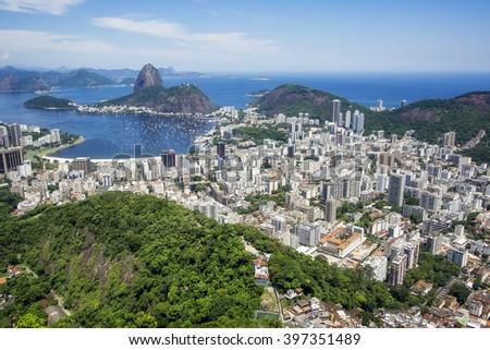 Rio de Janeiro cityscape, Brazil. - stock photo