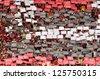 RIO DE JANEIRO - JUNE - 05: Mosaic during brazilian championship match between Flamengo vs Corinthians, june 05, 2011 in Engenh���£o Stadium, Rio de Janeiro, Brazil - stock photo