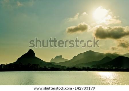 Rio de Janeiro Mountain Landscape - stock photo