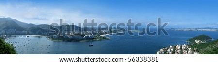 Rio de Janeiro panoramic - stock photo