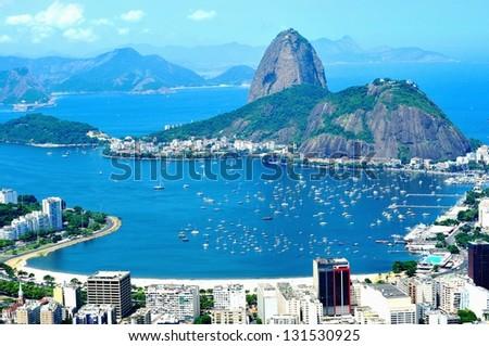 Rio de Janeiro, the Olympic City 2016 - Sugar-loaf Mountain - stock photo