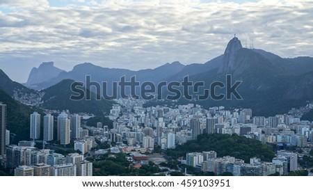 Rio De Janeiro. View from Sugar Loaf Mountain. - stock photo