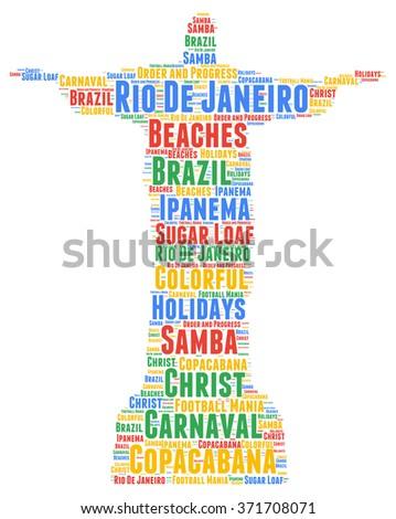 Rio de Janeiro word cloud  - stock photo