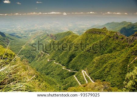 Rio do Rastro mountain road, Santa Catarina, Brazil.
