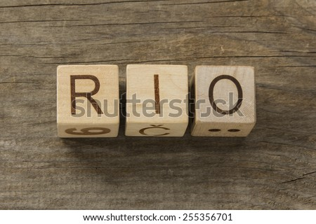rio on a wooden background  - stock photo