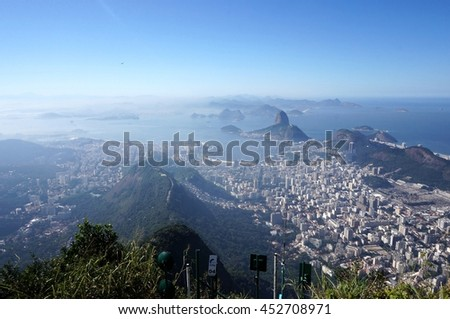 Rio view from above - stock photo