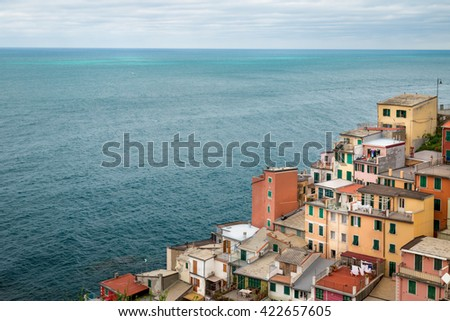 Riomaggiore Seascape - stock photo