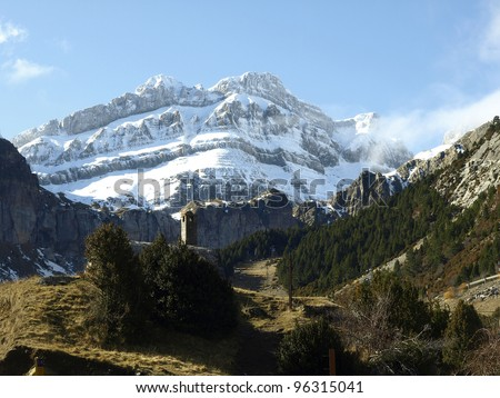 Rioseta landscape in the Pyrenees (Spain)