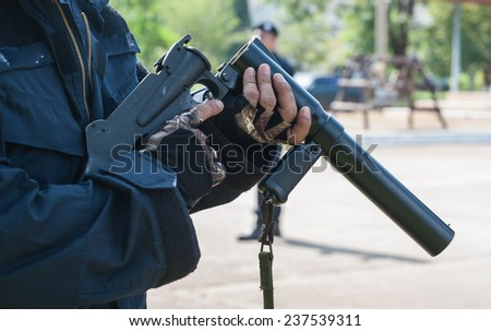 Riot control training to prevent riots. - stock photo
