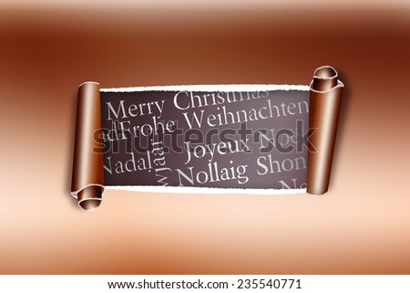 Rip gold paper against holiday greetings stock illustration rip in gold paper against holiday greetings in different languages m4hsunfo