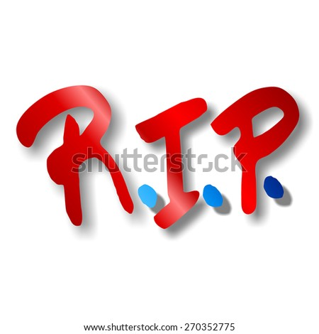 RIP rest in peace - stock photo