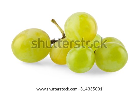 ripe and juicy cluster of vine on a white background - stock photo