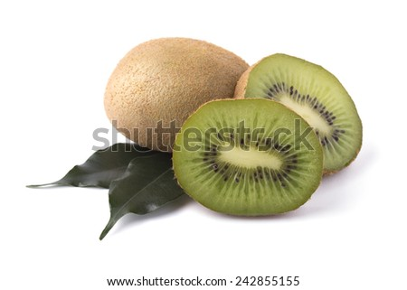 Ripe and juicy kiwi - stock photo