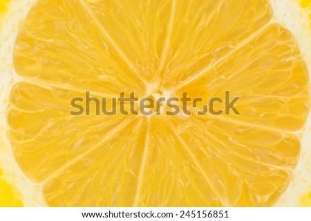 ripe and juicy lemon texture - stock photo