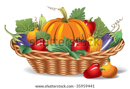 ripe appetizing vegetables in the basket