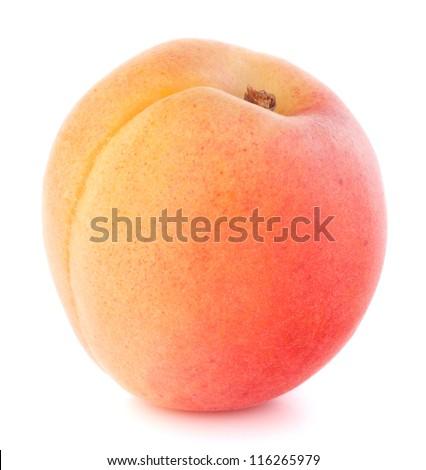 Ripe apricot fruit isolated on white background cutout - stock photo