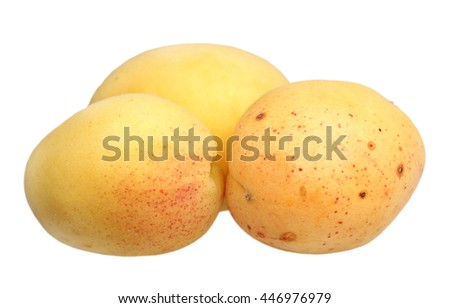 Ripe apricot it is isolated on a white background