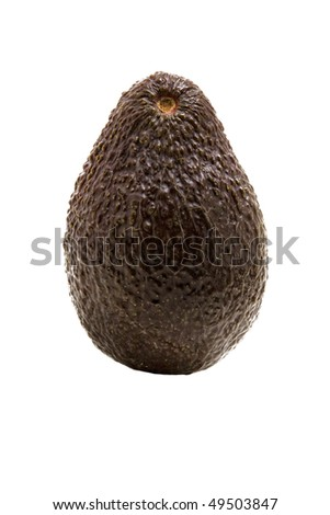 ripe avacado vegetable on a white background - stock photo