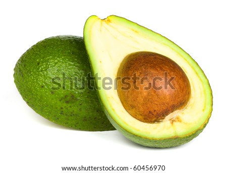 Ripe avocado - stock photo