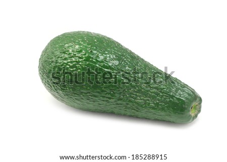 ripe avocado green color on a white background