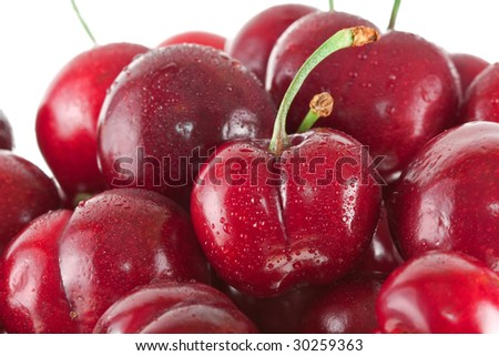 Ripe Bing cherries