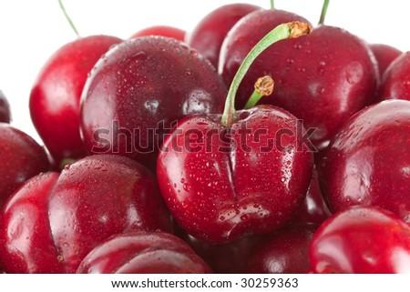 Ripe Bing cherries - stock photo